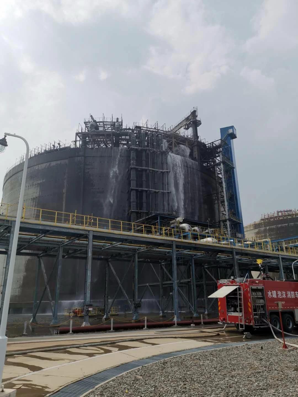 广西北海液化天然气接收站码头起火 火灾已致6死3伤图片