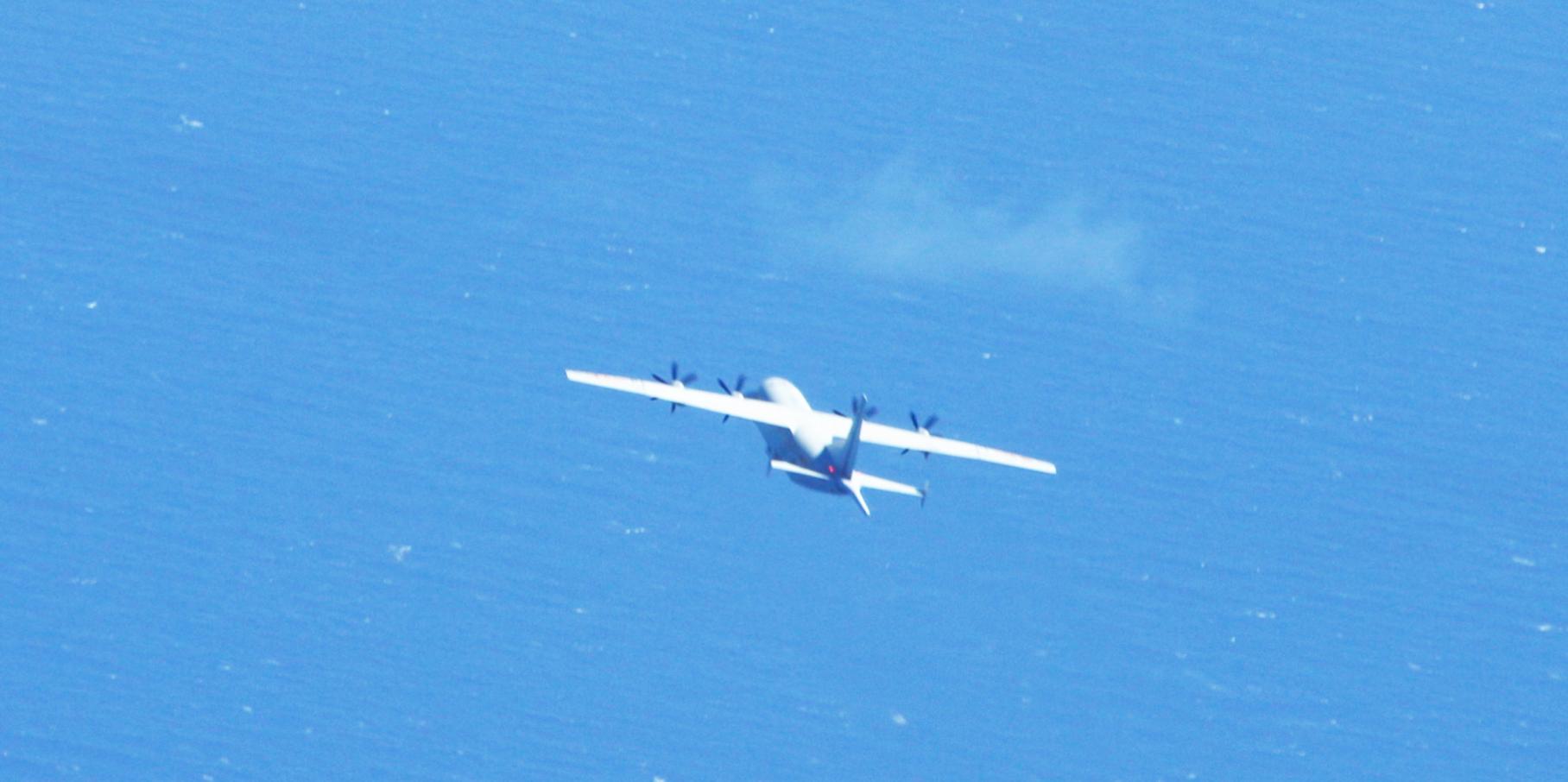 """台军:解放军一架运-8反潜机3日上午进入""""台湾西南空域""""图片"""