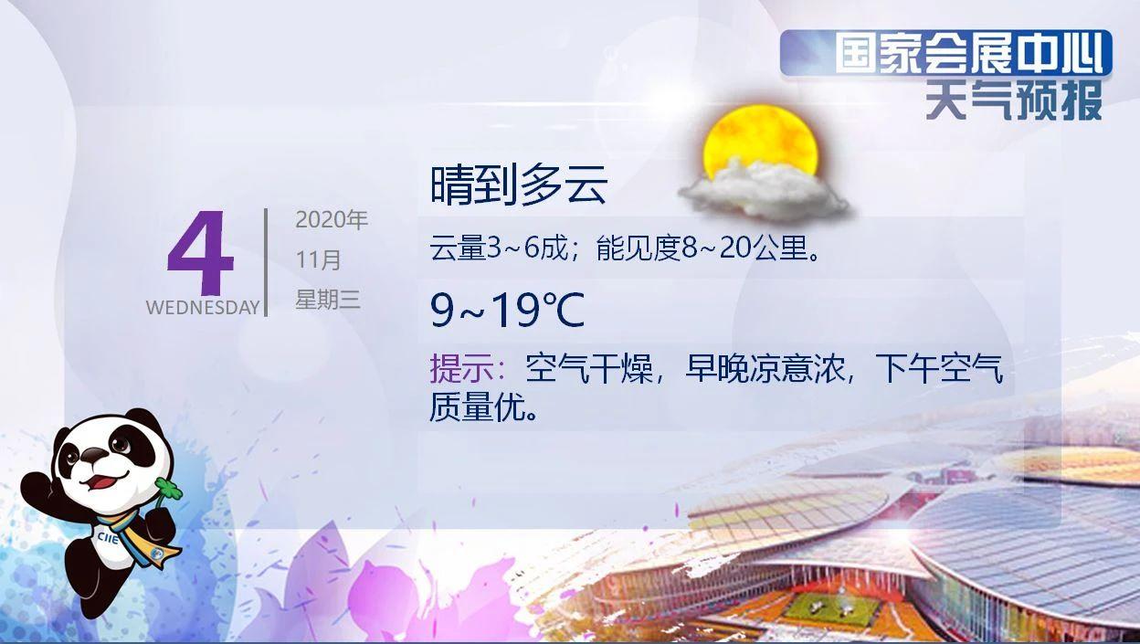 第三届进博会开幕式明日举行 上海以多云好天气相迎图片