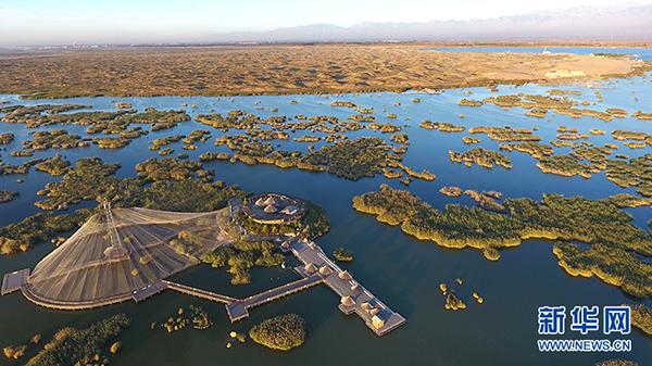 宁夏沙湖景区