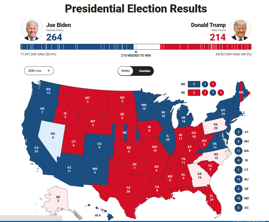 媒体:美大选高投票率背后 是整个社会焦虑感急剧增加