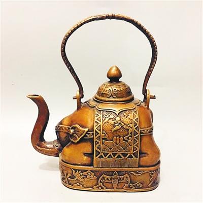 铜壶有象寓太平