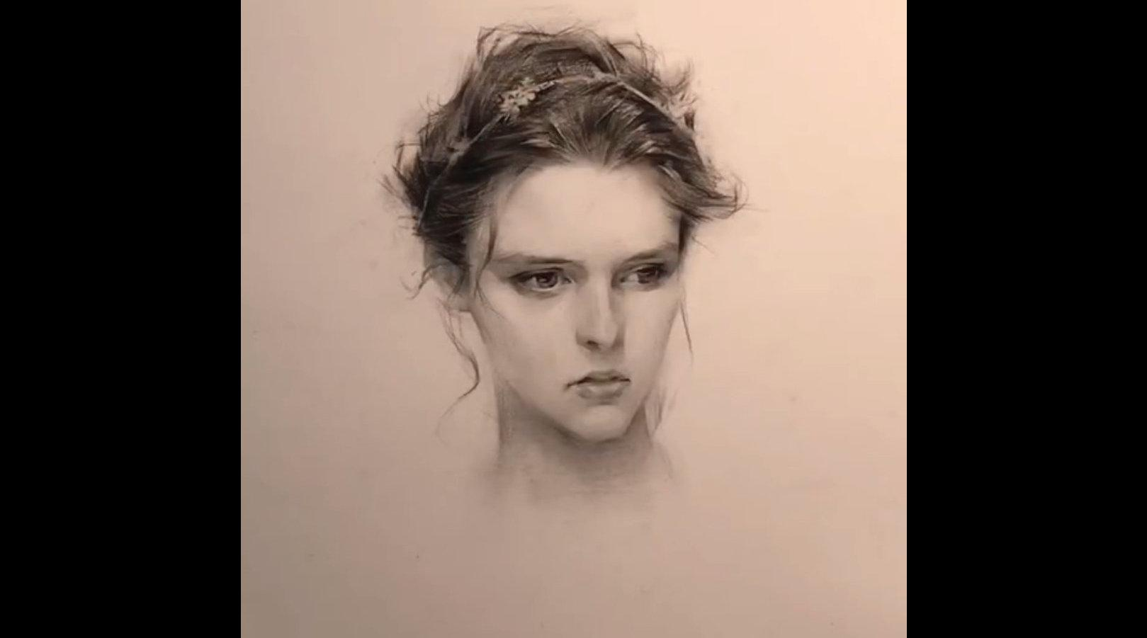 美人肖像,喜欢这个画风! 来源:绘画笔迹