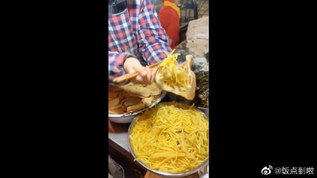 开封特色五香烧饼夹菜,中式汉堡,高端不高端无所谓…………