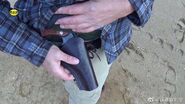史密斯韦森M10左轮手枪,弹巢供弹6发,户外射击实测!