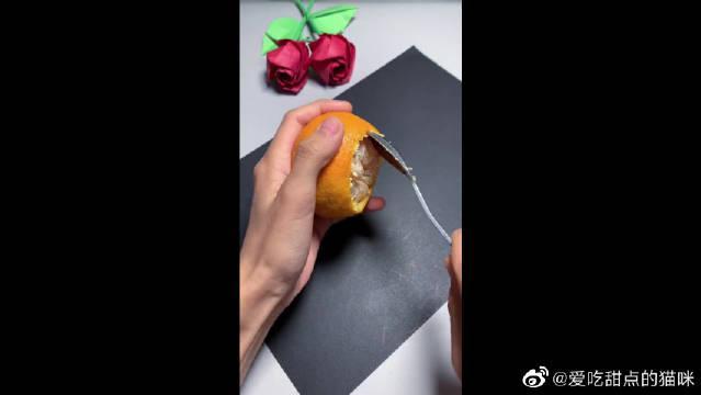哄孩子吃完橘子,和小朋友一起做个小橘灯…………
