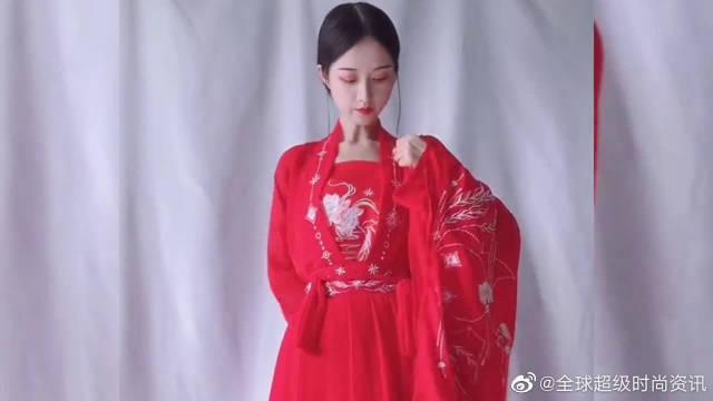 这红色系列的汉服,真的美呆了!