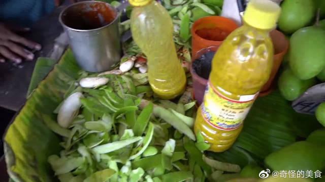 印度街头的重口味水果,切块后加点咖喱拌一拌,不愧是开挂民族!