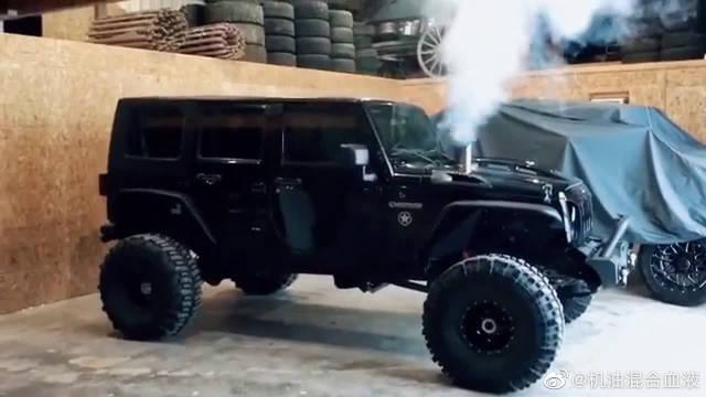 柴油版jeep牧马人,点火启动那一刻,就知道它发动机的霸气!