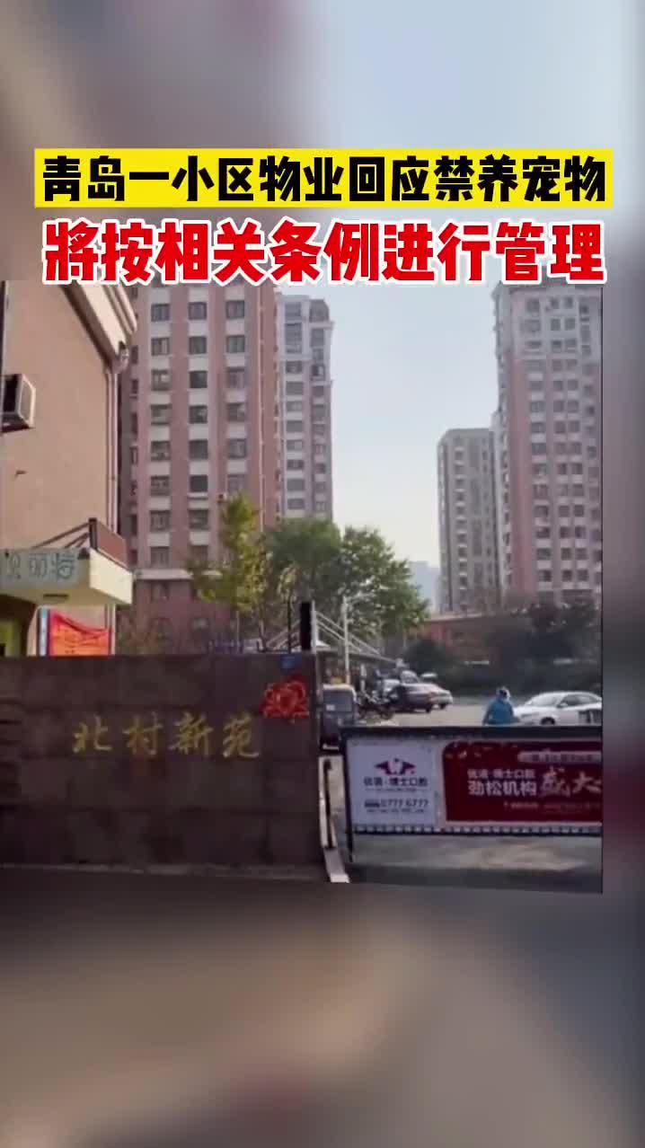 近日,青岛崂山区北村新苑小区物业贴通知禁止养宠引发热议……