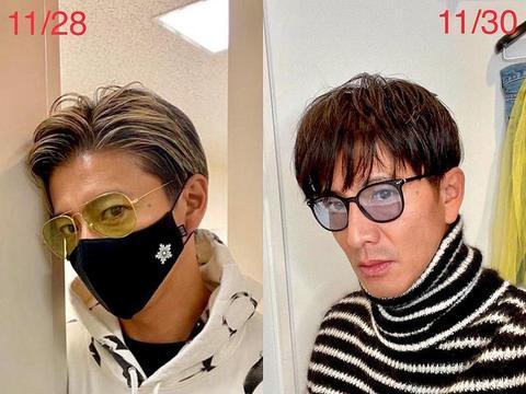 木村拓哉和工藤静香同晒怼脸自拍,发色变一致,撞衫防弹少年团成员