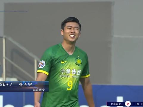 一场3-1令国安球员沸腾了!张玉宁笑靥如花,韩国门将一脸绝望