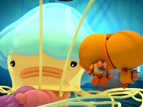 海底小纵队:狮鬃水母是世界最大水母,长度不亚于蓝鲸,很热心肠