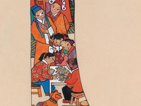 「津门网」戏班子进村,曾经都常见的场景现如今靠看画回忆了