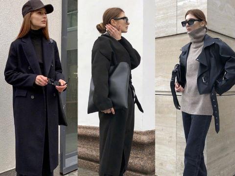 保暖时髦的冬季穿搭示范!灰色毛衣配白色长裤温柔优雅,随性简约