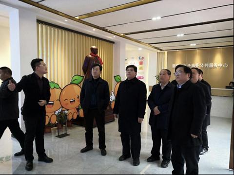 新宁:隋忠诚考察电子商务公共服务中心 电商扶贫成果获好评