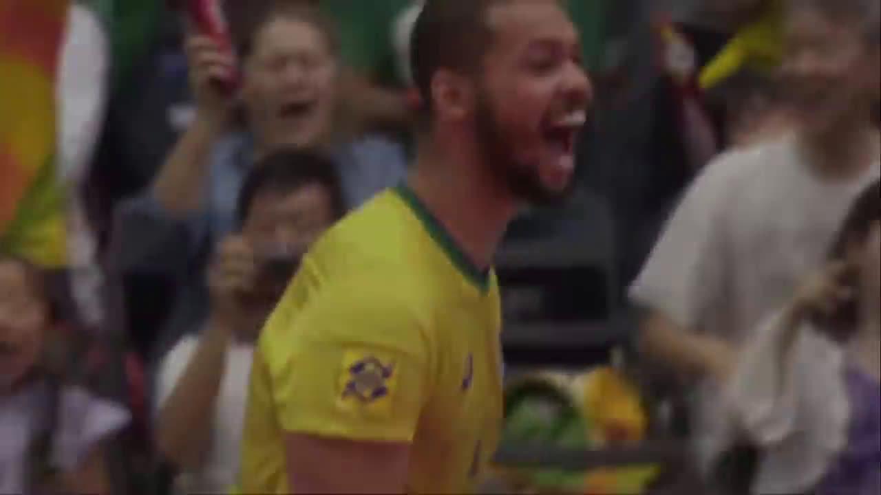2019男排世界杯美国vs巴西大战,来看看集锦