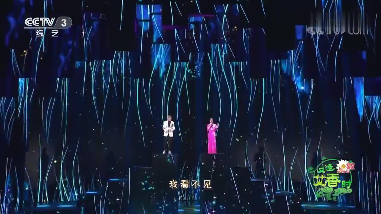 石头、王二妮携手演唱《雨花石》,这样组合就比较罕见了!