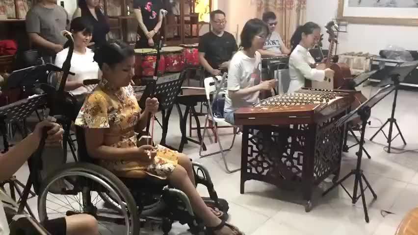 北京山水民乐团演奏的《沧海一声笑》完整版!