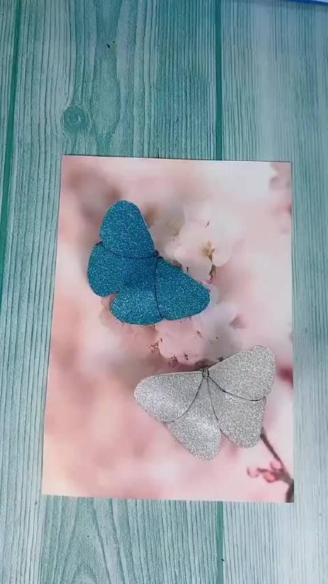 超级简单的折纸蝴蝶,只要一分钟,快快动起手来吧~
