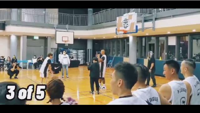 林俊杰发布了一段自己打篮球时罚球连投中五个的视频……
