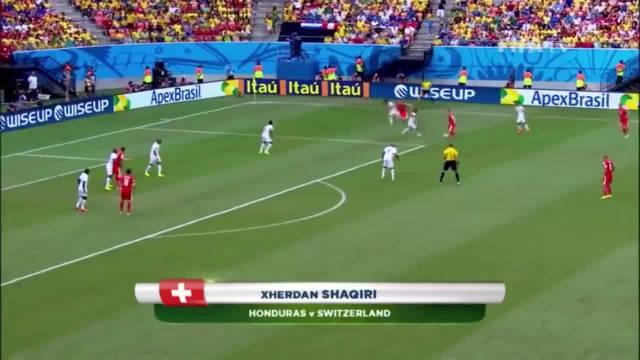 2014世界杯十佳球:梅西J罗皆两球……
