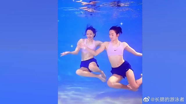 中国舞和水上芭蕾相结合…………