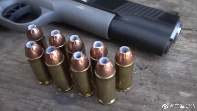 M1911手枪实弹射击测试,可靠性极高,不输伯莱塔92式