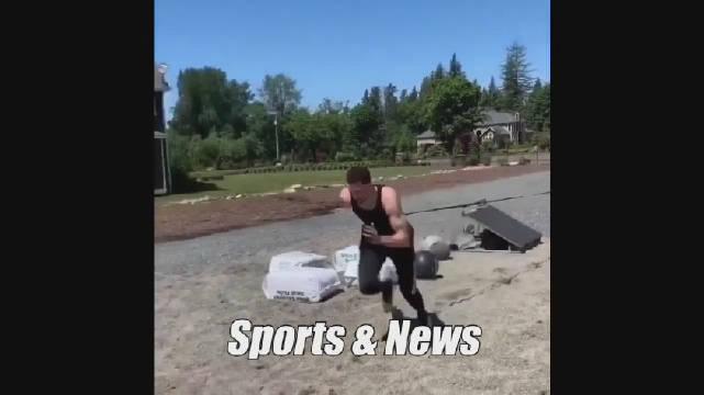 拉文休赛期最新训练视频,休赛期依旧在努力!