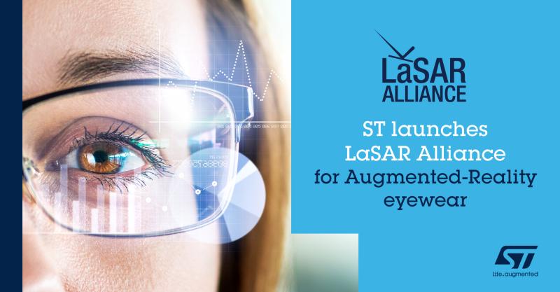 意法半导体牵头成立LaSAR联盟,共推轻量化AR激光显示技术