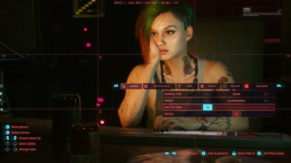 《赛博朋克 2077》照相模式演示映象,本作将于12月10日发售