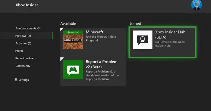 微软推出改版后的Xbox Insider中心