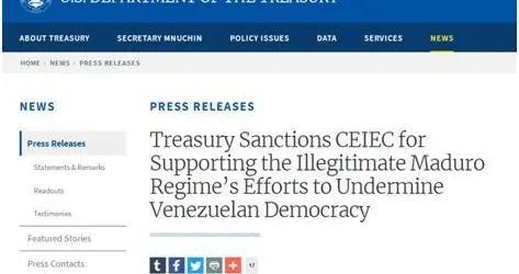 渝视频丨又借委内瑞拉打压中企!美财政部宣布制裁中国电子进出口有限公司