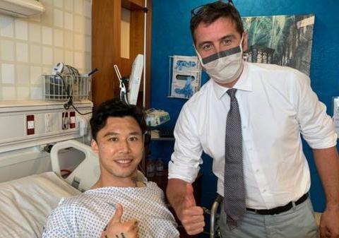 广州恒大足球俱乐部官方表示:张琳芃的手术顺利,六周时间来康复