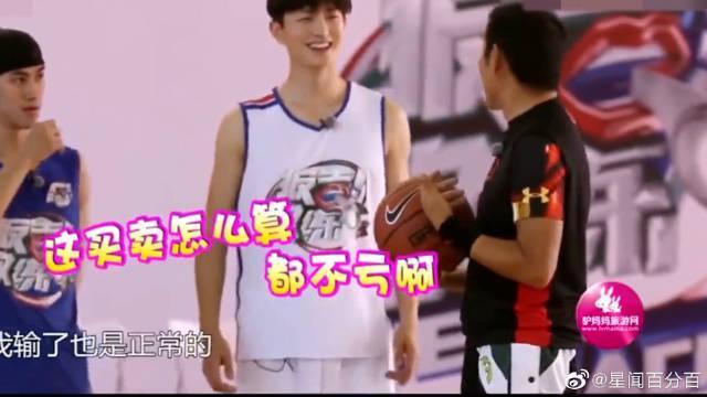 陈道明打篮球名场面 和易建联PK投篮 直言:你就不能不投进去吗?……