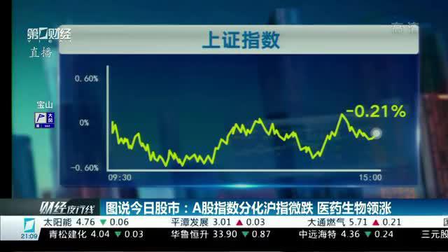 图说今日股市:A股指数分化沪指微跌 医药生物领涨