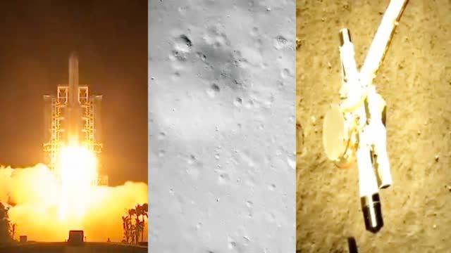 80秒回顾嫦娥五号探月之旅:看宇宙实景