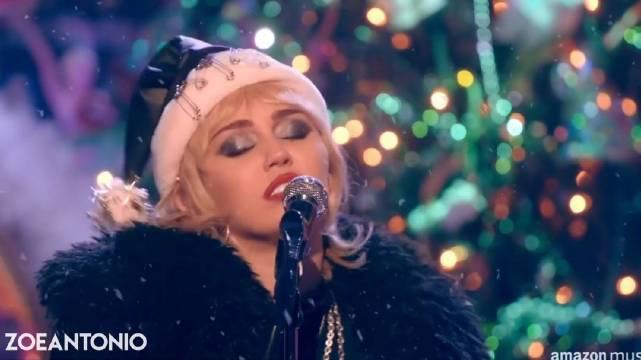 🎄麦粒 Miley Cyrus 最新亚马逊音乐现场歌曲翻唱表演「Last……