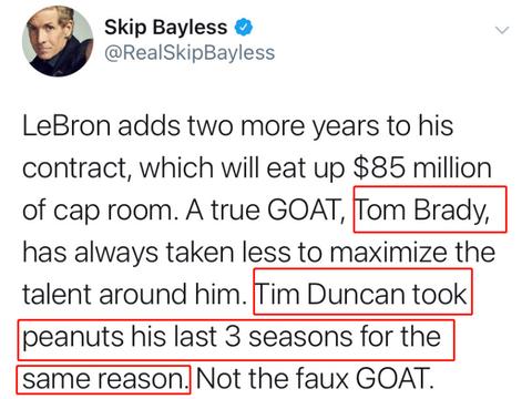 名嘴抨击詹皇是假的Goat消耗湖人8500万空间,不像邓肯为球队牺牲