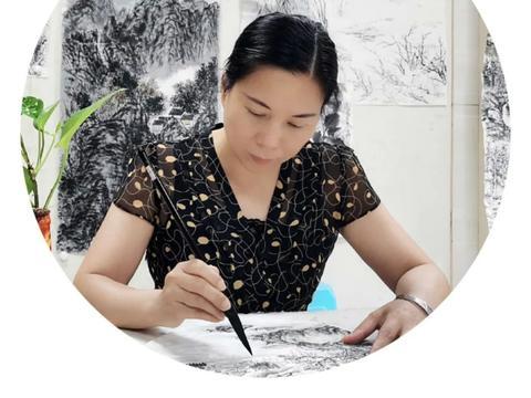 中国人民大学艺术学院书画创作研修班吴华林水墨工作室学员张丽娇