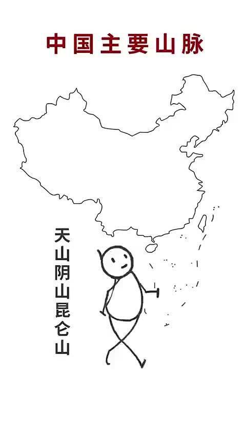 敲黑板!中国有哪些主要山脉!马住!!! ...