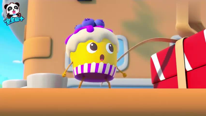宝宝巴士美食:乐乐刚想吃蛋糕,就去玩游戏了,饿了才回来看蛋糕