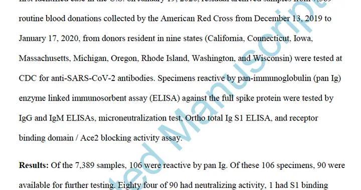 美国疾控中心承认:新冠病毒去年12月中旬或已在美出现