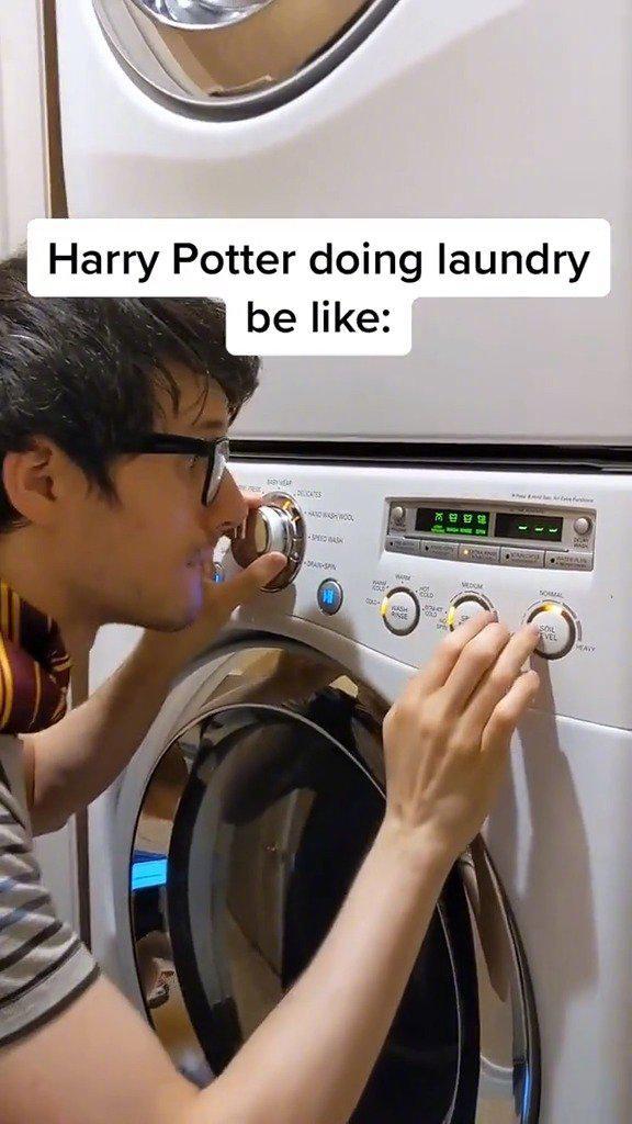 Kurt用洗衣机演奏《哈利波特》主题曲在外网爆红!