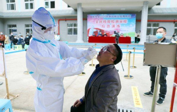 晴隆县举行2020年新冠肺炎疫情防控全民核酸检测采样应急演练活动