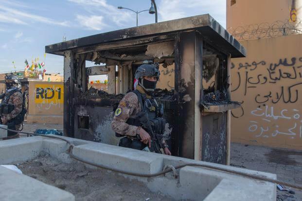 在地区紧张局势中,美国将减少,在巴格达大使馆的工作人员