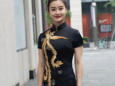 刺绣旗袍黑色连衣裙穿搭,高级精致,温婉端庄,古典又有气质!