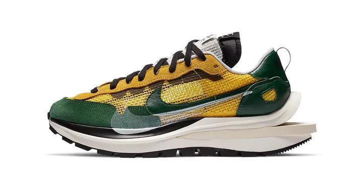 sacai x Nike Vaporwaffle全新黄绿配色
