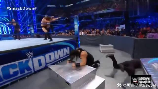 WWE:罗门担任霍根战队队长,联手丹尼尔,轻取老中医独狼组合