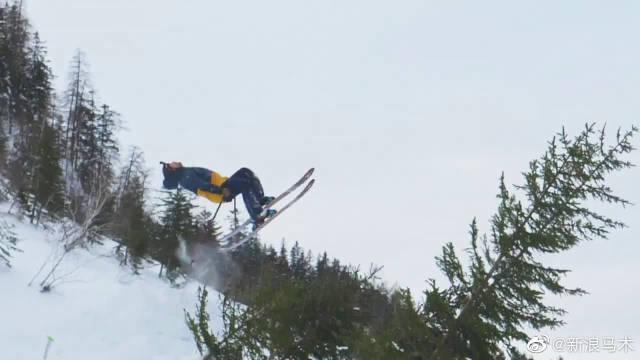 高山滑雪极致技巧与勇气,一起欣赏热雪已来